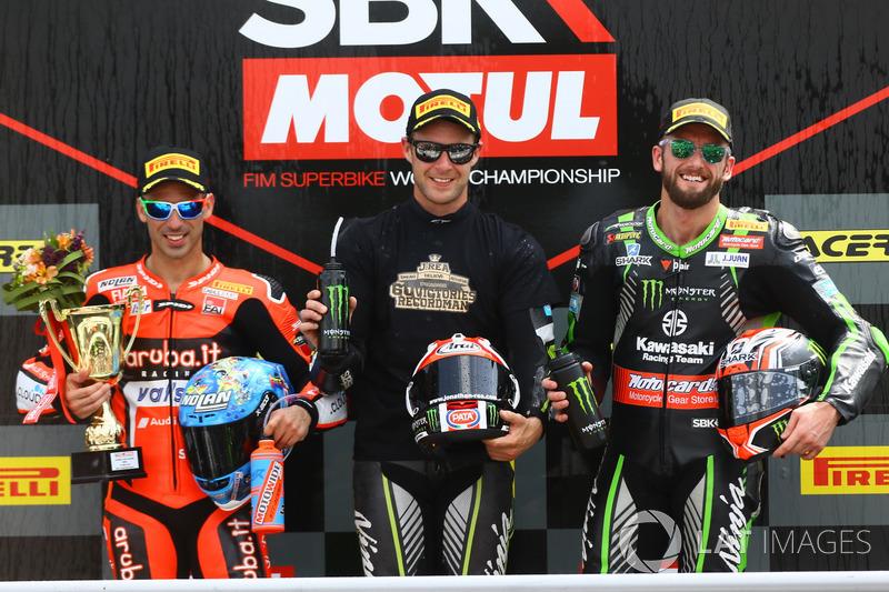 Marco Melandri, Aruba.it Racing-Ducati SBK Team, Jonathan Rea, Kawasaki Racing, om Sykes, Kawasaki Racin