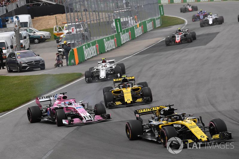 Sergio Perez, Force India VJM11 trompea
