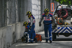 IndyCar AMR Safety Team repairs crash wall