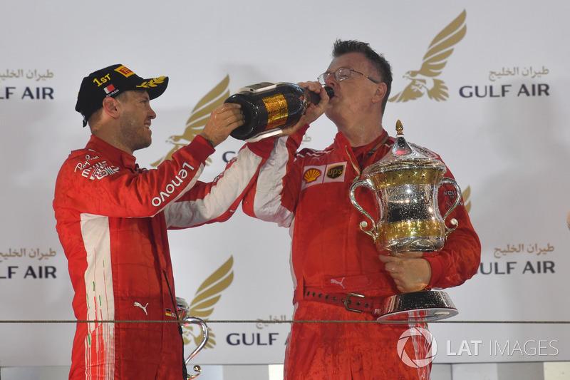 Sebastian Vettel, Ferrari podyumda