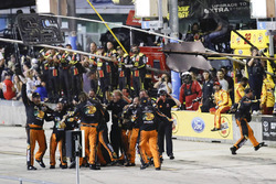 Martin Truex Jr., Furniture Row Racing Toyota team celebration