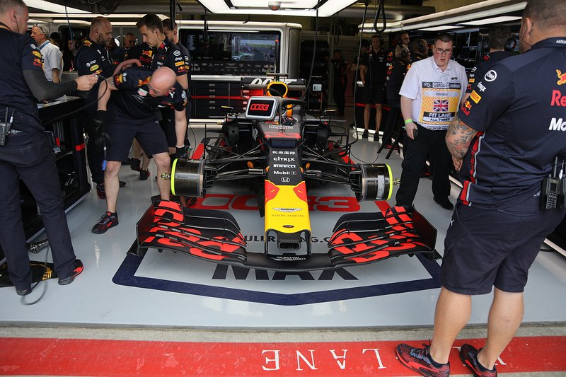 Red Bull Racing RB15 of Max Verstappen in the garage
