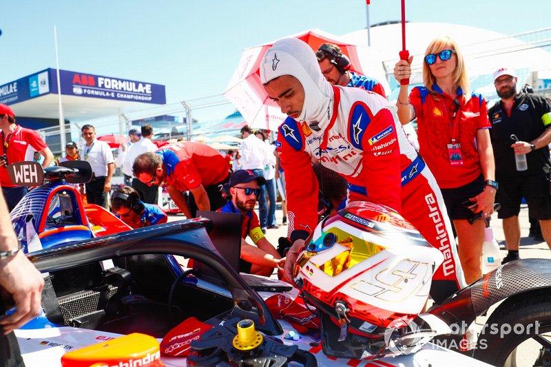 Pascal Wehrlein, Mahindra Racing, in griglia di partenza