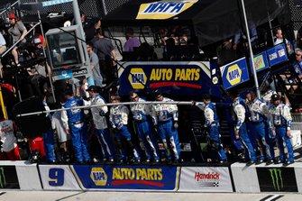 Chase Elliott, Hendrick Motorsports, Chevrolet Camaro NAPA AUTO PARTS, JD Gibbs tribute