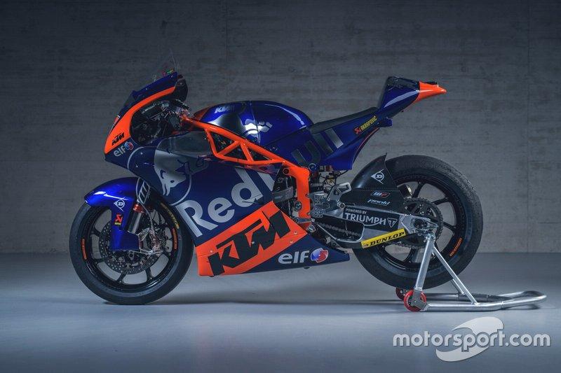 La nueva moto del Red Bull KTM Tech3 de Moto2