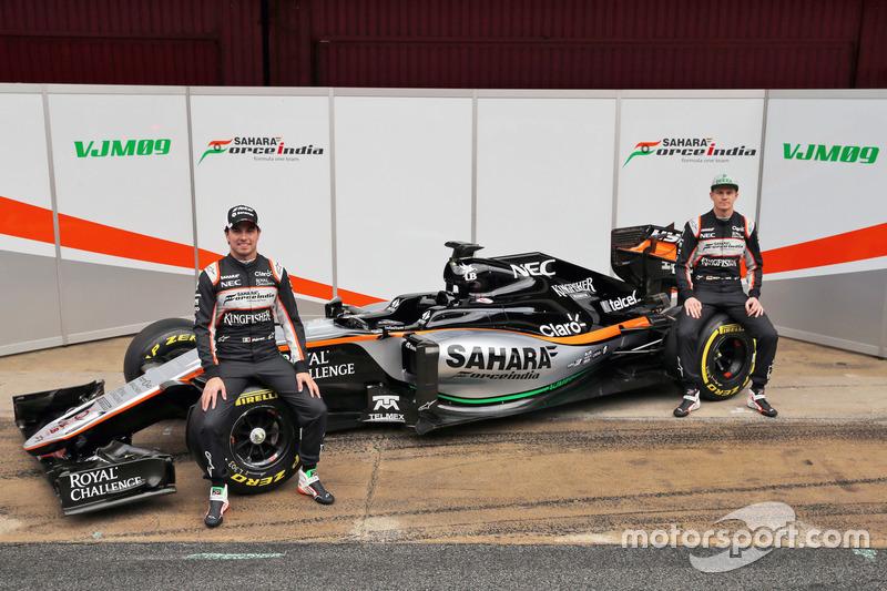 Sergio Perez e Nico Hulkenberg - Sahara Force India F1 VJM09