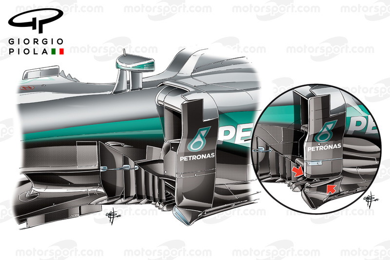 Mercedes W07 barge boards