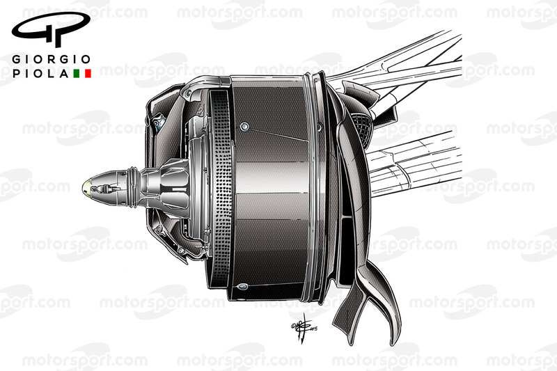 Mercedes W07 brake duct, Canadian GP
