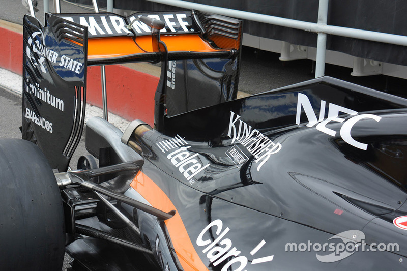 Force India VJM09, Heckflügel