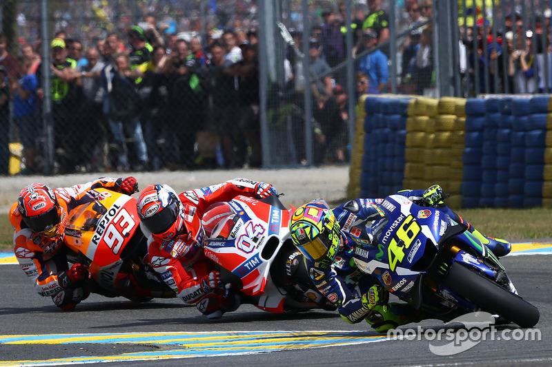 MotoGP Prancis 2016 - Valentino Rossi, Yamaha Factory Racing, Andrea Dovizioso, Ducati Team, Marc Marquez, Repsol Honda Team