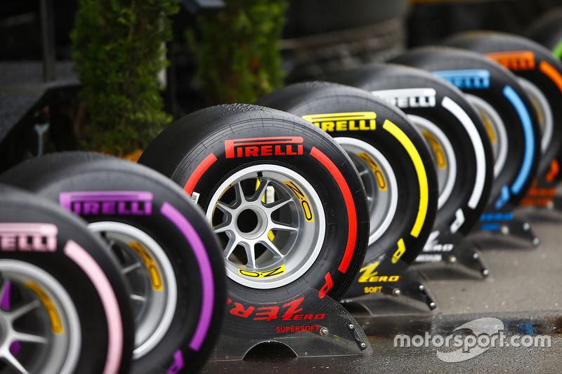 El rango completo de neumáticos Pirelli en el paddock