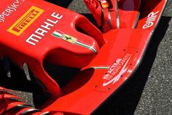 Nez et aileron avant de la Ferrari SF71H