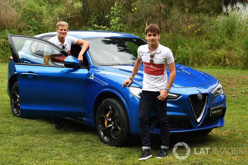 Marcus Ericsson, Sauber y Charles Leclerc, Sauber con Alfa Romeo Stelvio