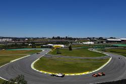 Felipe Massa, Williams FW40 and Fernando Alonso, McLaren MCL32