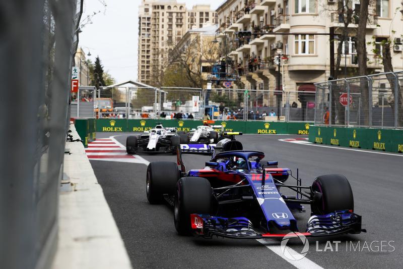 Pierre Gasly, Toro Rosso STR13 Honda, Lance Stroll, Williams FW41 Mercedes, Charles Leclerc, Sauber C37 Ferrari