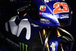 Le carénage de la moto de Maverick Viñales, Yamaha Factory Racing