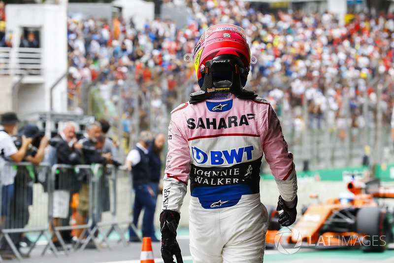 Sergio Perez, Force India, Parc Ferme