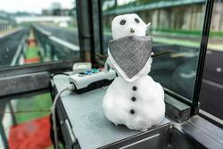 Pupazzo di neve del Team HWA