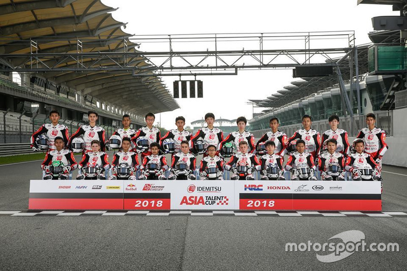 Foto Grup Pembalap Asia Talent Cup 2018