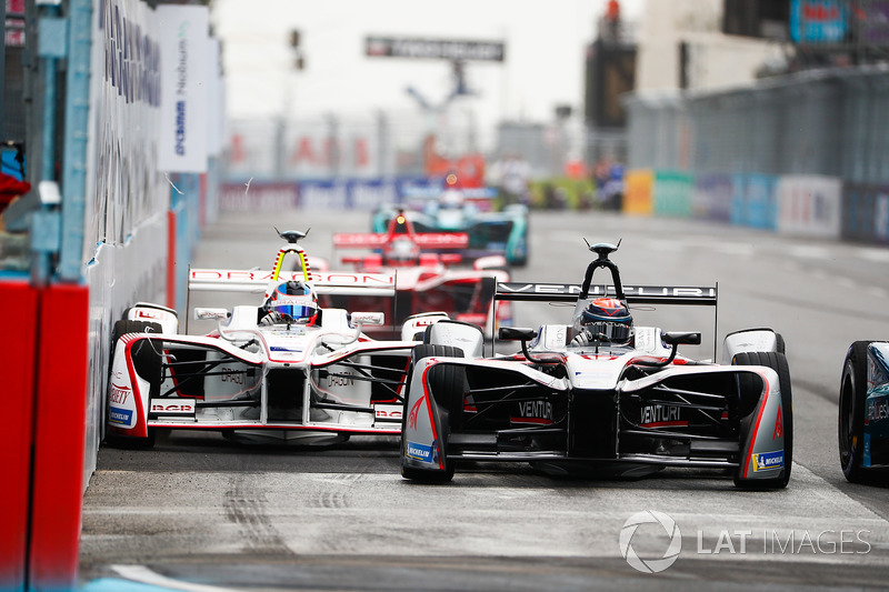 Edoardo Mortara, Venturi Formula E Team, Jose Maria Lopez, Dragon Racing