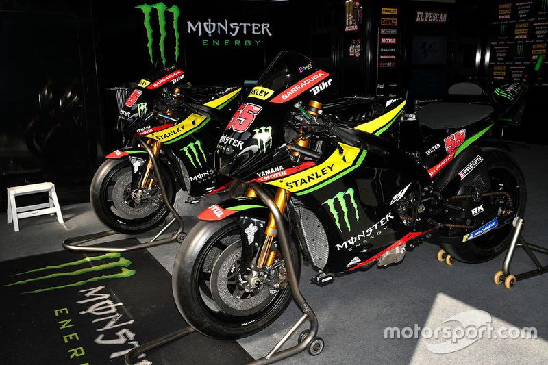 Monster Yamaha Tech 3 bikes