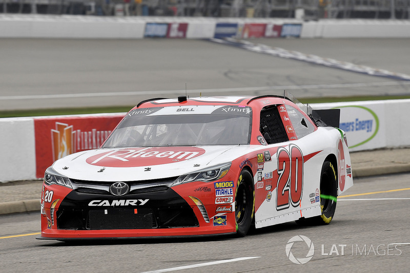 Christopher Bell, Joe Gibbs Racing, Toyota Camry Rheem on pit road