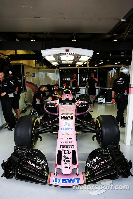 Sahara Force India F1 VJM10 de Esteban Ocon