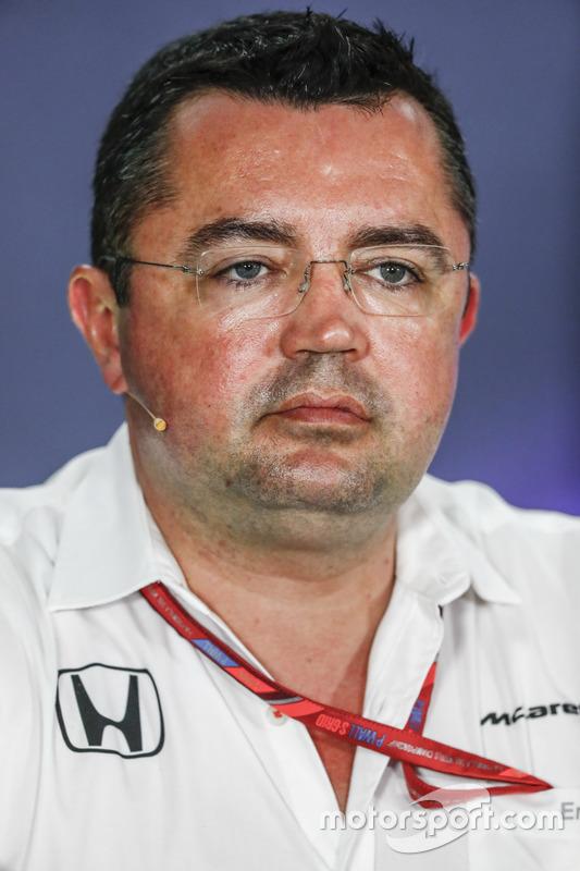 Pressekonferenz: Eric Boullier, McLaren