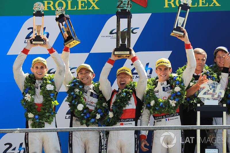 7. Podio: Ho-Pin Tung, Oliver Jarvis, Thomas Laurent, DC Racing