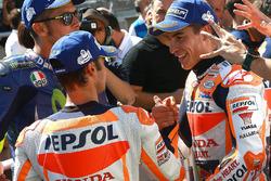 Tercero Dani Pedrosa, Repsol Honda Team y el  ganador de la pole Marc Márquez, Repsol Honda Team