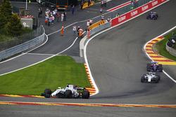 Felipe Massa, Williams FW40, Lance Stroll, Williams FW40, Carlos Sainz Jr., Scuderia Toro Rosso STR12 and Daniil Kvyat, Scuderia Toro Rosso STR12