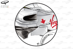 Brawn BGP 001 2009 Monaco chassis fin