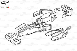 Ferrari 412T2 (647) 1995 exploded view