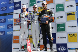 Rookie podium: winner Lando Norris, Carlin, second place Mick Schumacher, Prema Powerteam, third place Jehan Daruvala, Carlin