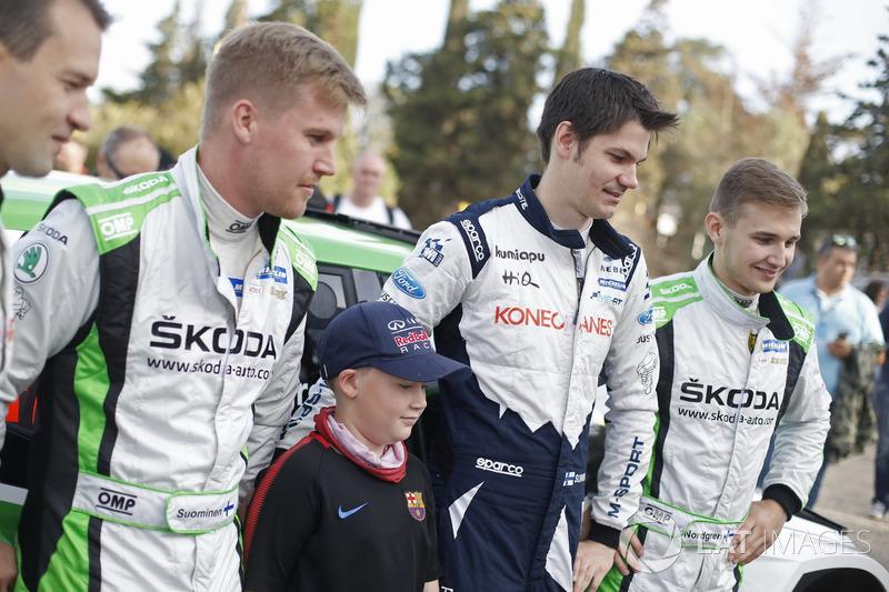 Teemu Suninen, M-Sport World Rally Team y Juuso Nordgren, Tapio Suominen, Skoda Motorsport