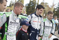 Teemu Suninen, M-Sport World Rally Team e Juuso Nordgren, Tapio Suominen, Skoda Motorsport