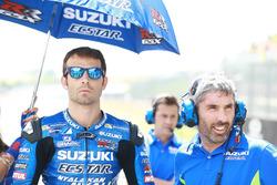 Sylvain Guintoli, Team Suzuki MotoGP, et Jose Manuel Cazeaux