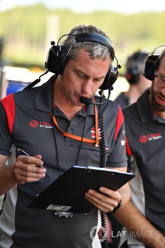 Stuart Cramp, Haas F1 Team, Chefmechaniker