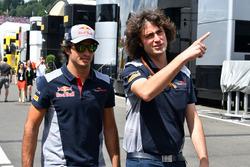 Carlos Sainz Jr., Scuderia Toro Rossom Marco Matassa, Scuderia Toro Rosso Engineer