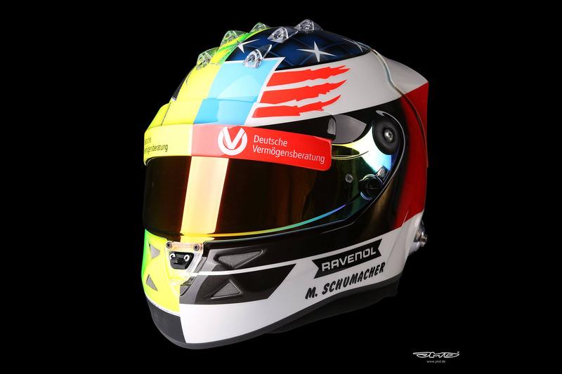 Helmet of Mick Schumacher