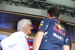 Bernie Ecclestone, Formula 1 fahri başkanı ve Christian Horner, Takım Patronu Red Bull Racing