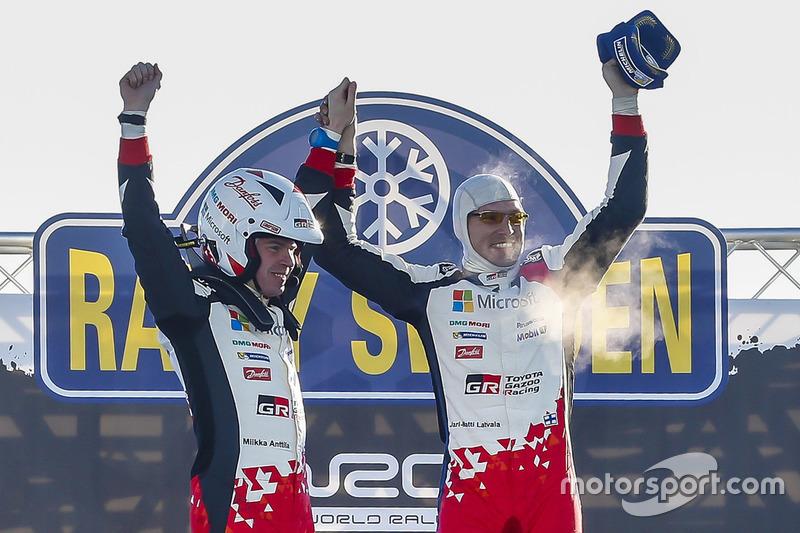 Victoria de Jari-Matti Latvala, Miikka Anttila, Toyota Yaris WRC, Toyota Racing