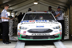 Danica Patrick, Stewart-Haas Racing Ford goes through inspection