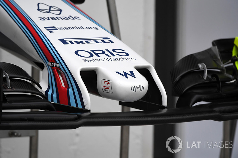 Williams FW40 detalle de la nariz