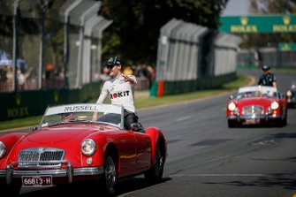 George Russell, Williams Racing, in the drivers parade