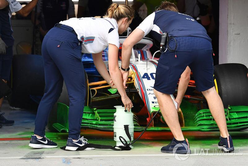 Robert Kubica, Williams FW41 and aero paint