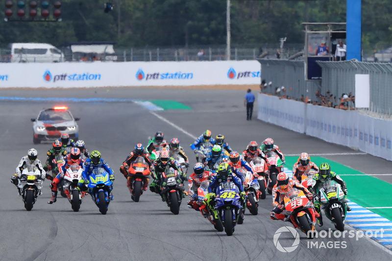Start, Marc Marquez, Repsol Honda Team, Valentino Rossi, Yamaha Factory Racing