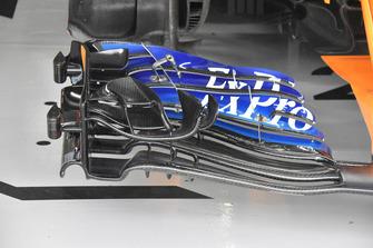 Stoffel Vandoorne, McLaren MCL33 front wing detail