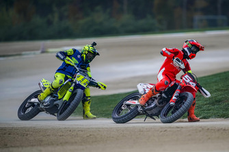 Valentino Rossi in action