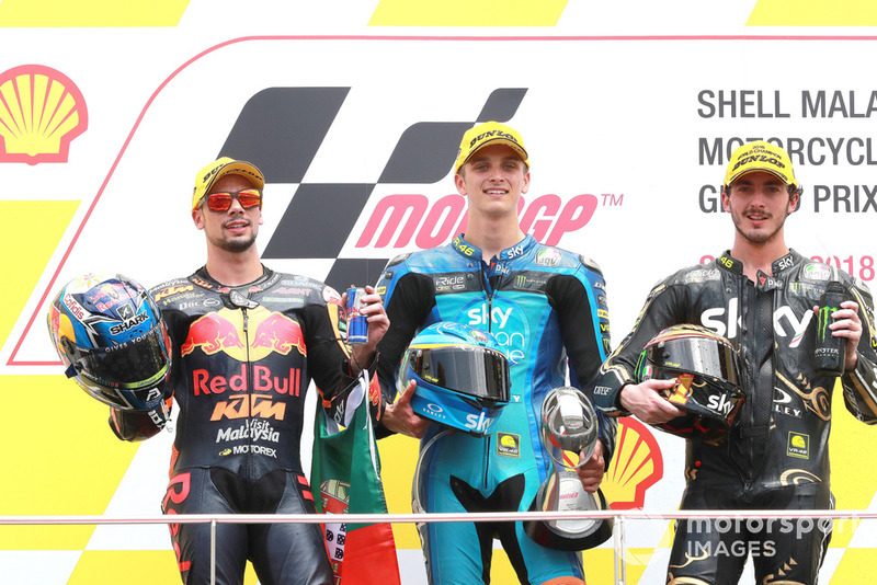 Miguel Oliveira, Red Bull KTM Ajo Luca Marini, Sky Racing Team VR46 Francesco Bagnaia, Sky Racing Team VR46